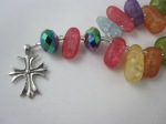 Fun Multi-Colored Frosted Glass Chaplet