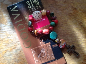A perfect combination: chocolate and prayer beads