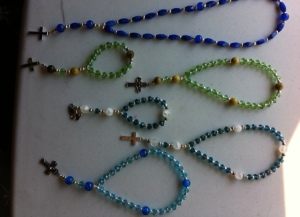 Prayer beads made by one of our readers and her prayer group